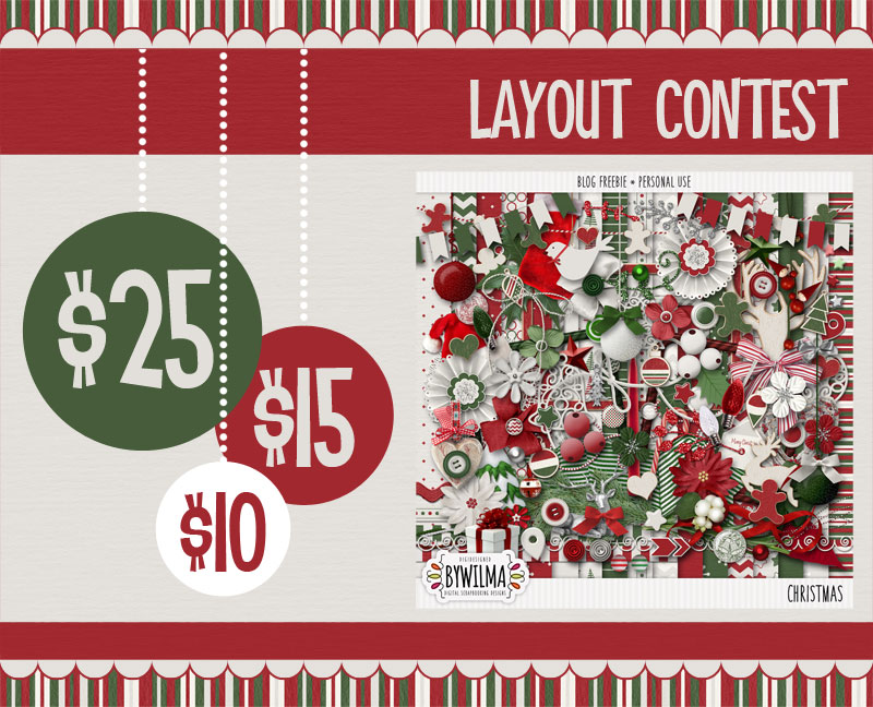 2014 Christmas Layout Contest digidesigned byWilma
