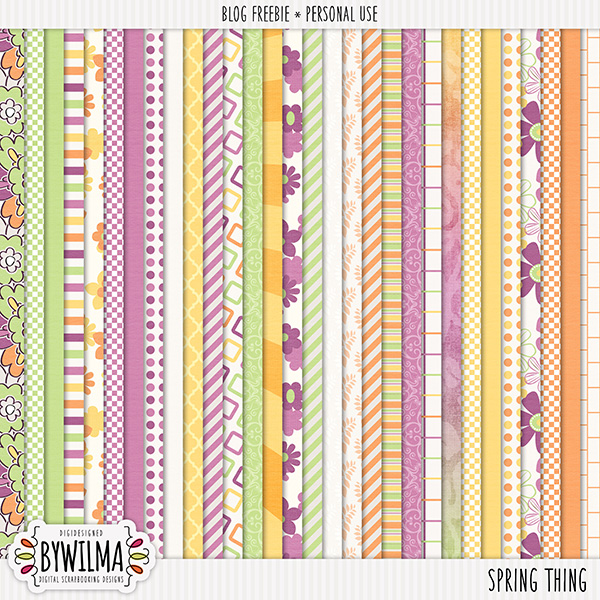 Digital Scrapbooking freebie byWilma - Papers