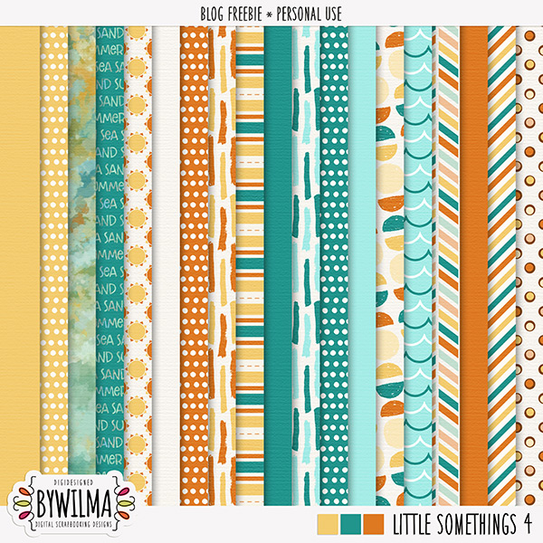 Digiscrap freebie Little Somethings 4 byWilma - Papers