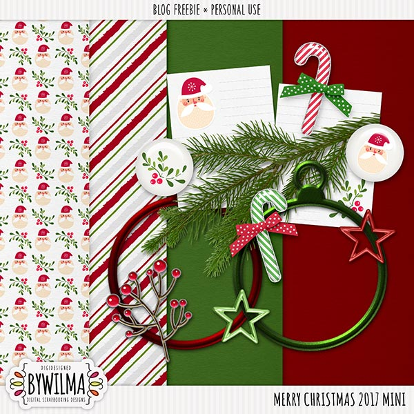 Merry Christmas to all + freebie mini kit